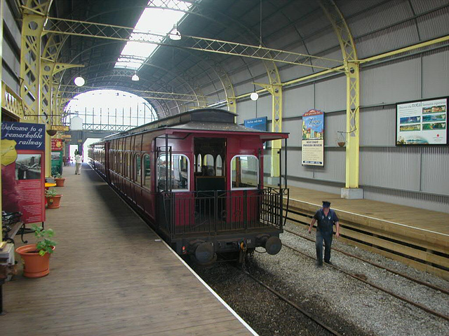 Nostalgic train in the railway station