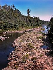 Crossing the Arthur River at the Kanunnan Bridge
