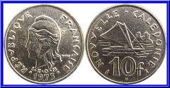 10 Francs Nouvelle Calédonie 1973