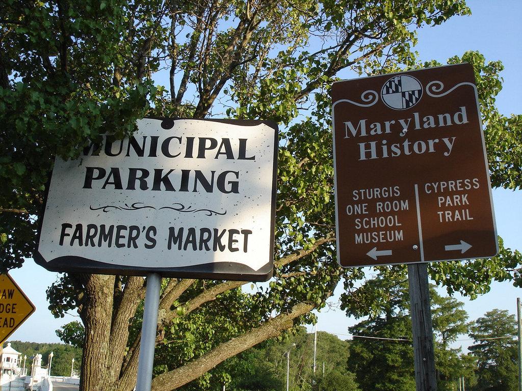 Maryland history signs / Enseignes historiques - Pocomoke, Maryland. USA - 18 juillet 2010