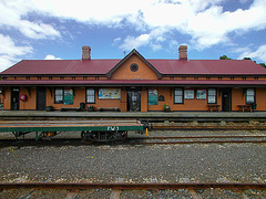 Railway station in Strahan