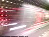 Blurred Metro Train in Staromestska, Prague, CZ, 2010