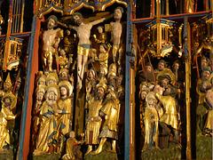 Detail des Schreins überm Hochaltar der Johnniskirche in Lüneburg