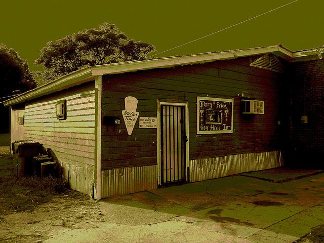 Mary Price Key Hole Inn / Indianola, Mississippi. USA - 9 juillet 2010 / Sepia légèrement postérisé