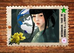 Poŝtkarto / Carte postale TAKE-Esperanto