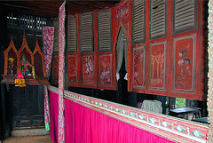 The stage for Thai puppetry