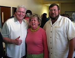 Huell Howser - Lorraine Becker - Russ Augustine  at JTNP 75th Anniversary Recept