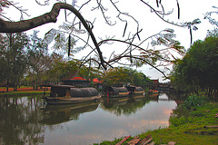 Historic barges in the Mueang Boran park  เรือพระราชพิธี
