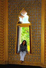 Window inside Kam Yaad Palace Hall, Ang Thong  พระตำหนักคำหยาด อ่างทอง