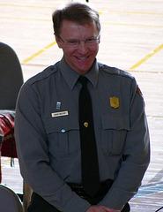 Mark Butler (JTNP Superintendent) at JTNP 75th Anniversary Reception (2213)