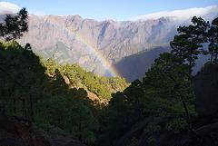 Rainbow in Caldera