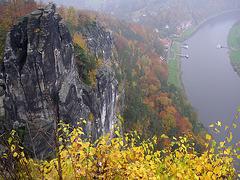 Blick von der Bastei auf Rathen -