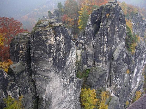 Die Bastei in Herbst