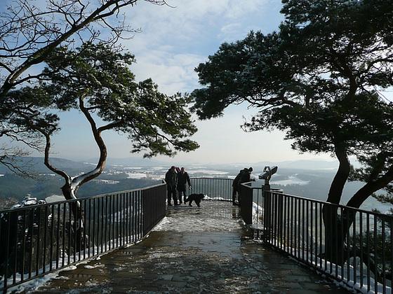 Bastei und Elbtal im Winter
