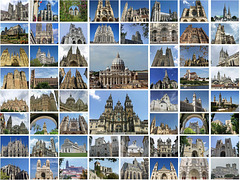 58 Visited Roman Catholic Cathedrals of Western Europe