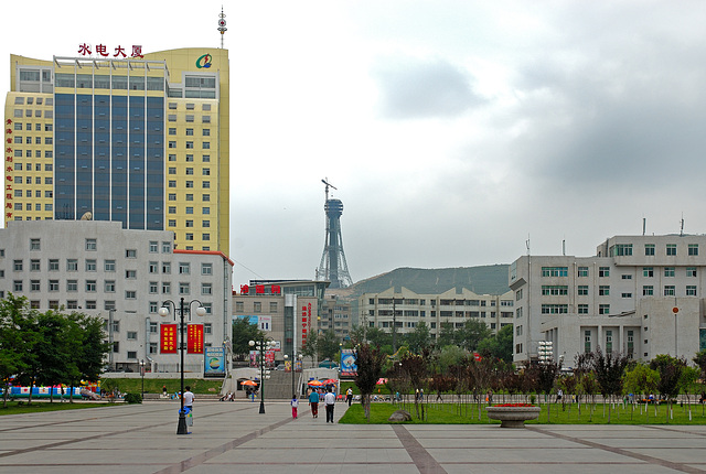New building constructions every where in Xining