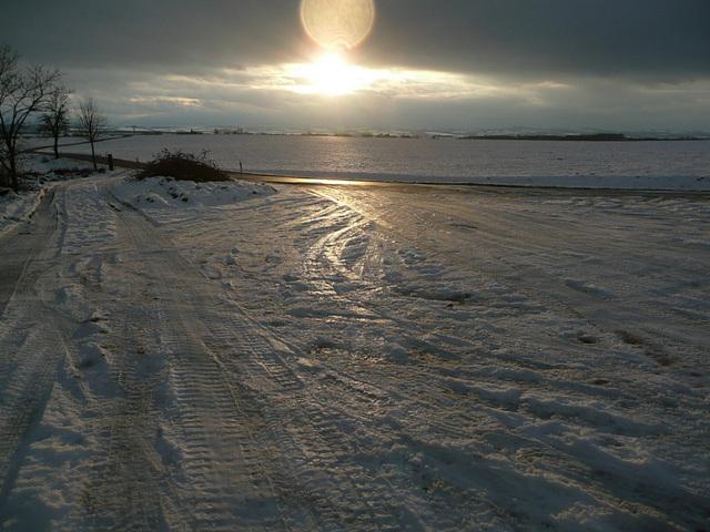 Licht über Eis und Schnee - lumo super glacio kaj neĝo