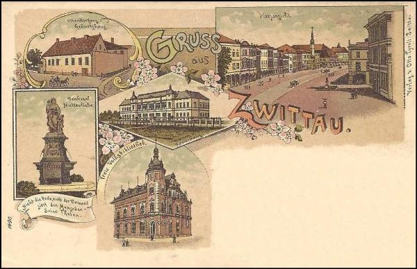 Svitavy  - historia bildkarto el 1897