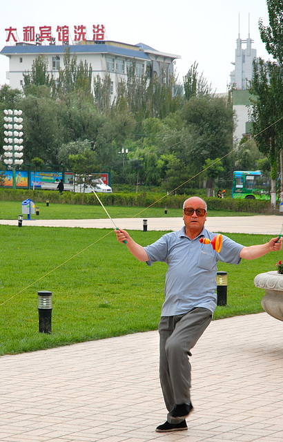 Playing Diabolo in the Namsan Park