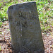Hand-chisled headstone - On top of Angel Mountain NC
