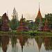 The garden of sacred Stupas  ป่าเจดีย์