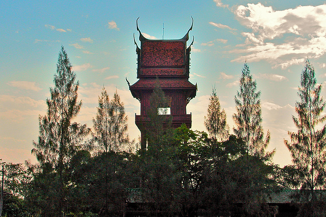 View to the other bell tower หอระฆัง