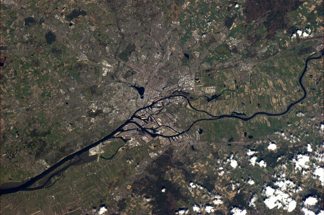 Hamburg by the ISS
