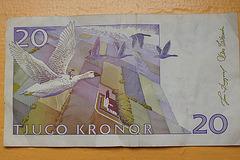 Billet de 20 tjugo kronor