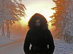 féérie du soir : le soleil noir