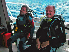 Felix and myself ready for the dive