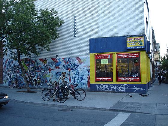 Nescanep graffitis & bikes / Graffitis Nescanepiens & vélos - Montréal, Québec. CANADA / 10 septembre 2010