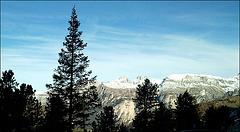 Blick auf die Sellagruppe, Dolomiten