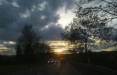Im Auto unterwegs......