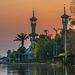 Samunyinam Mosque minarets in sunset light