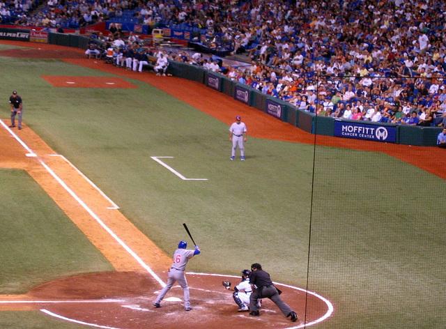 Cubs at bat ...