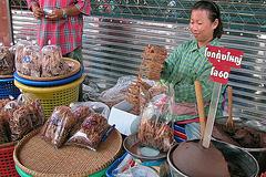 Dry fish and shrimp paste called Gkapi กะปิ