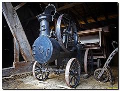 Dampf- Dreschmaschine