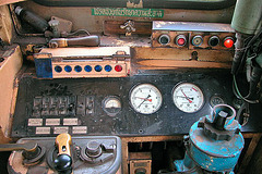 Dashboard in conductors cabin
