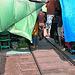 Train passes through Talad Rom Hoop market