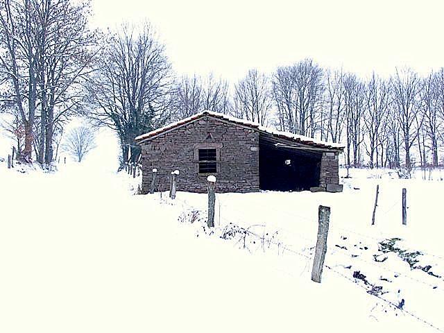 La petite cabane dans la neige