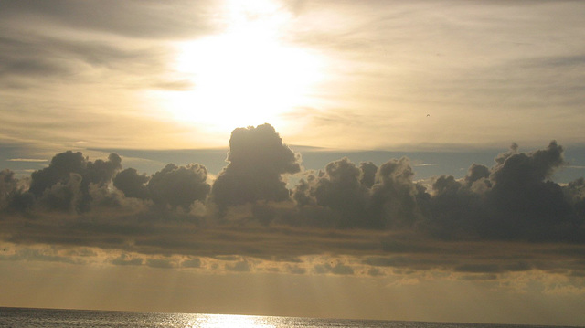 Puffs of clouds reaching for the sun...