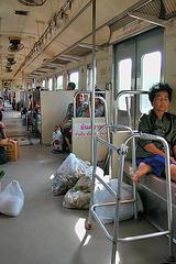 Inside the train car