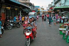 Moped traffic through the market street