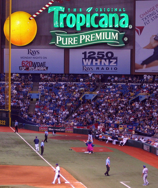Tropicana Field...
