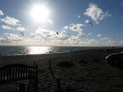 Kite Surfers do it off South Hayling Island