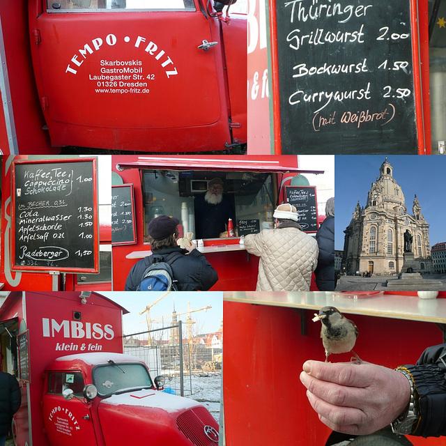 Imbiss klein & fein an der Frauenkirche in Dresden