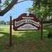 Cimetière de Hilltop's cemetery / Mendham, New-Jersey (NJ). USA - 21 juillet 2010.- Ciel bleu postérisé