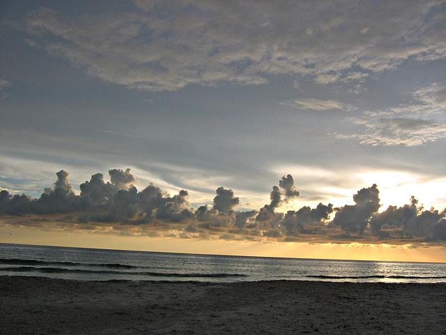 Layers over a calm gulf..