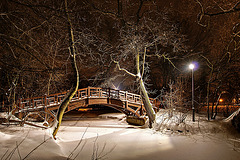 Brücke im Johannapark