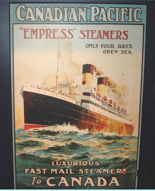 Express of Ireland - Le trajet des navires / The ship's routes / Musée de Pointe-au-Père, Québec. Canada - 23 juillet 2005.